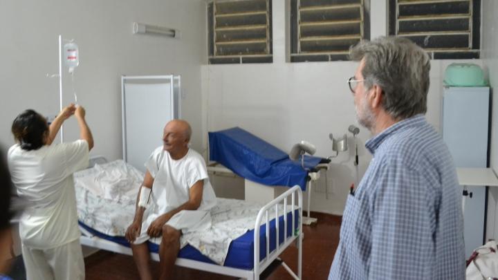 Hospital de São Miguel em pleno funcionamento