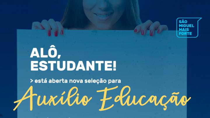 Prefeitura oferece mais 34 bolsas de auxílio educação
