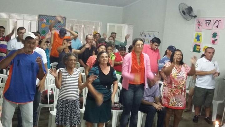 CAPS realização celebração pascal com assistidos