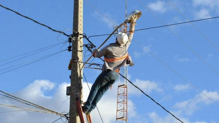 Prefeitura inicia processo de reposição de lâmpadas da iluminação pública.