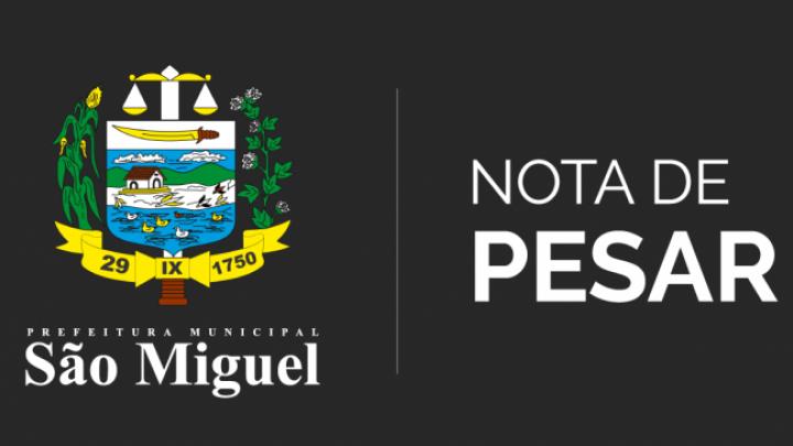 Nota de Pesar pelo falecimento do ex-vereador Valdemiro José da Silva (Bil)