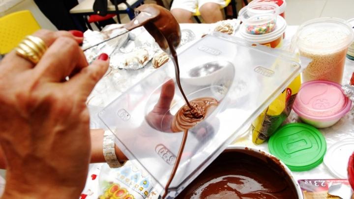 CRAS São Miguel realiza oficina de ovos de páscoa
