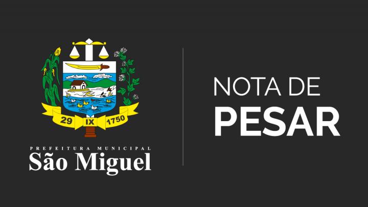 Prefeitura emite nota de pesar pelo falecimento do Sr. Carlos Washington Oliveira Barbosa