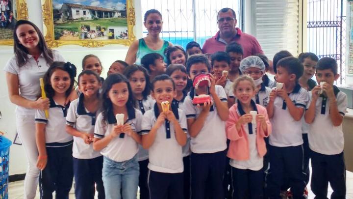 Escola municipal de São Miguel desenvolve atividades educativas sobre saúde bucal